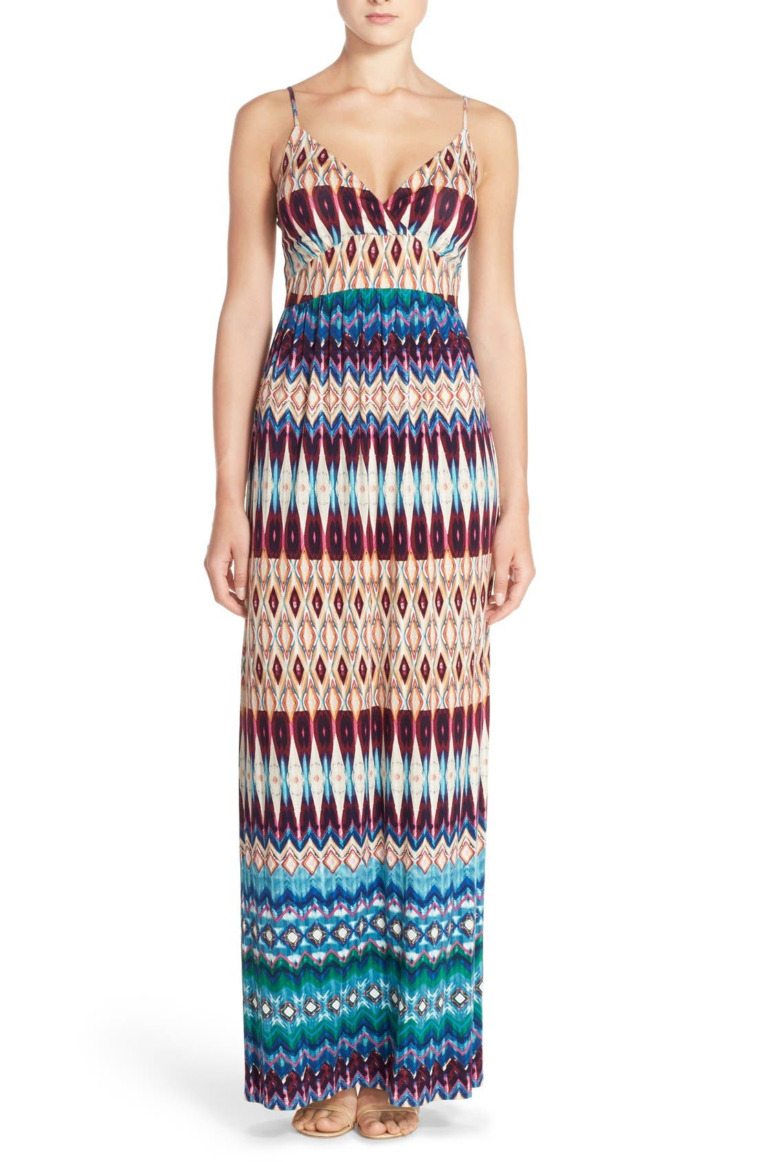 Alternate Image 1 Selected - Felicity & Coco Floral Print Jersey Maxi Dress (Regular & Petite) (Nordstrom Exclusive)