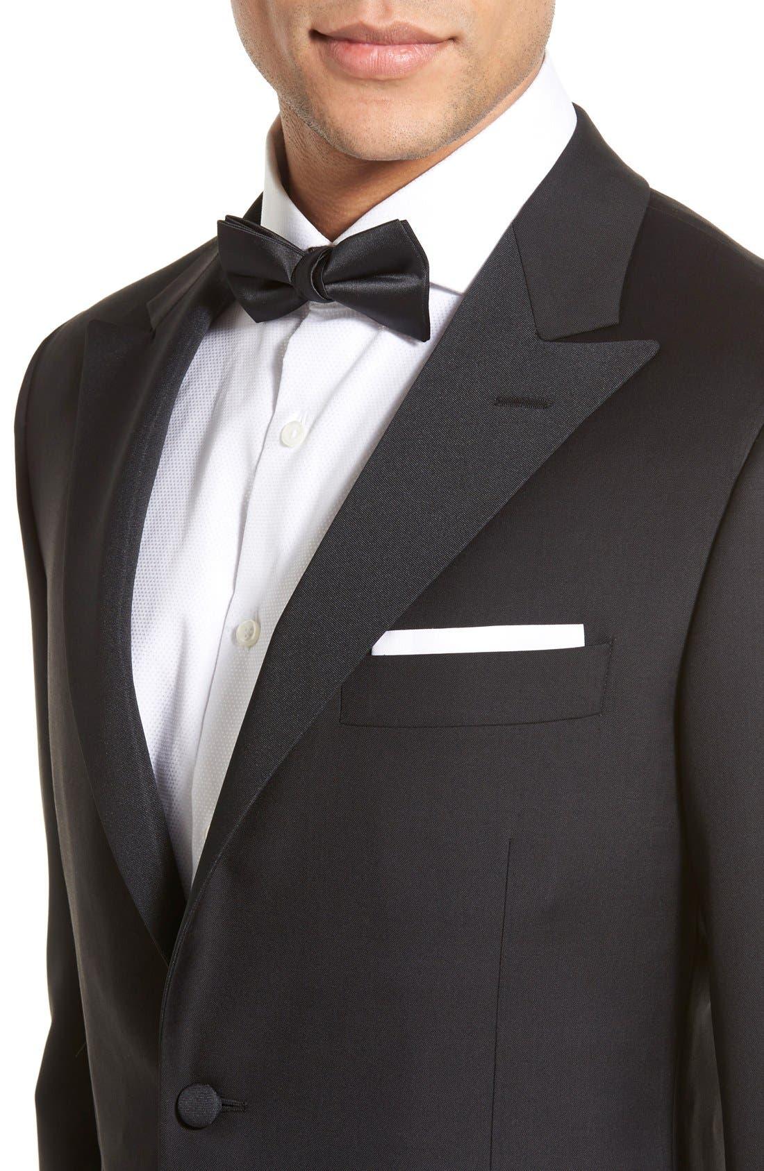 Alternate Image 4  - Hickey Freeman Classic B Fit Tasmanian Wool Tuxedo