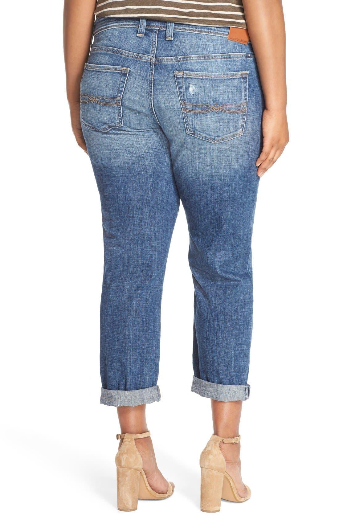 Alternate Image 3  - Lucky Brand Reese Distressed Boyfriend Jeans (Northridge Park) (Plus Size)