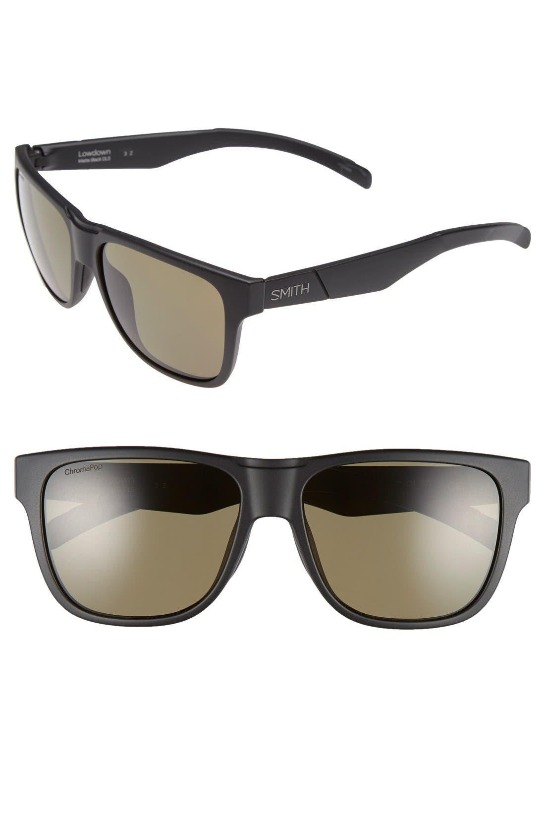 SMITH Lowdown 56mm Polarized Sunglasses