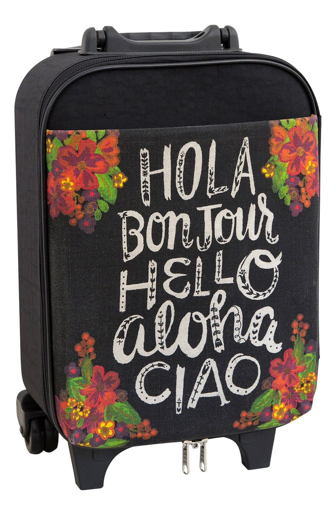 Main Image - Natural Life 'Hello - Under the Seat' Suitcase (19 Inch)
