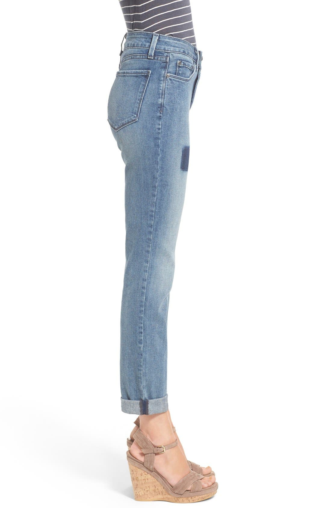 Alternate Image 3  - NYDJ 'Sylvia' Patch Detail Stretch Relaxed Boyfriend Jeans (Montebello)