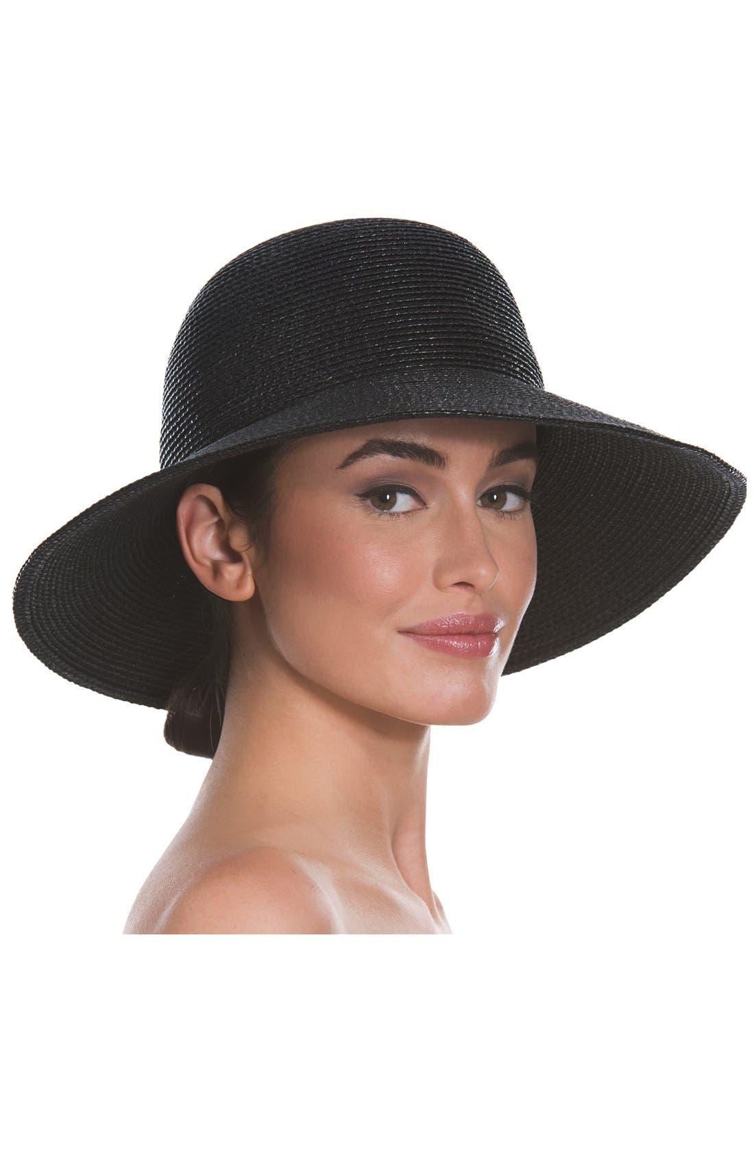 'Squishee<sup>®</sup> IV' Wide Brim Hat,                             Alternate thumbnail 2, color,                             Black