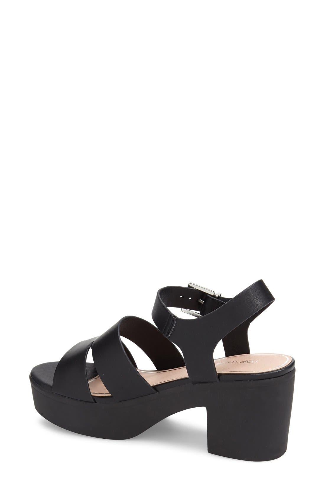 Alternate Image 2  - Topshop 'Den' Platform Sandal (Women)