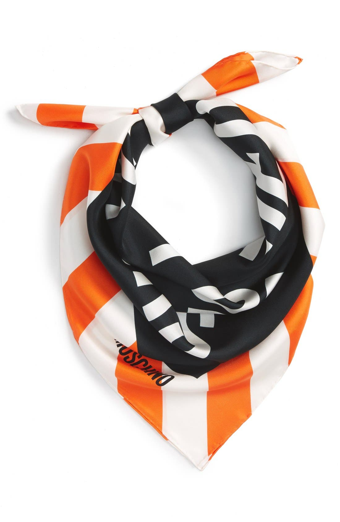 Alternate Image 1 Selected - Moschino 'Clothed for Repairs' Square Silk Scarf