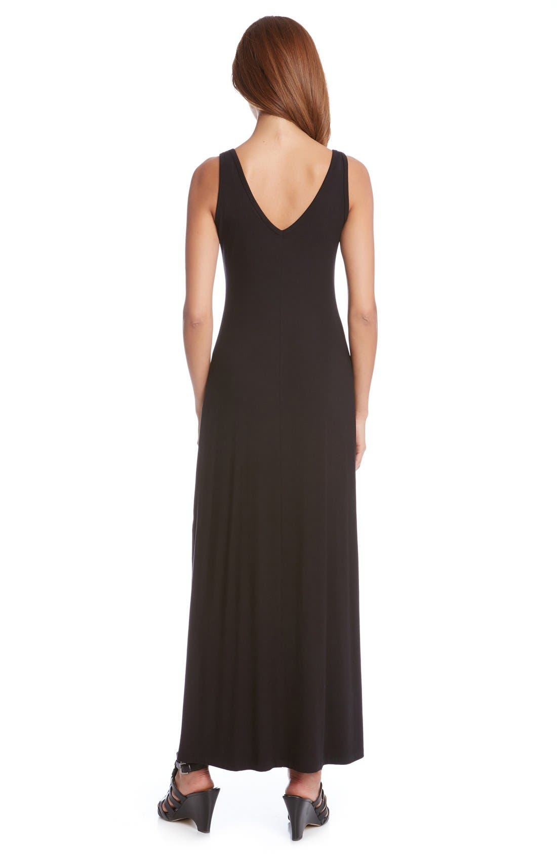 Alternate Image 3  - Karen Kane 'Alana' Double V-Neck Maxi Dress