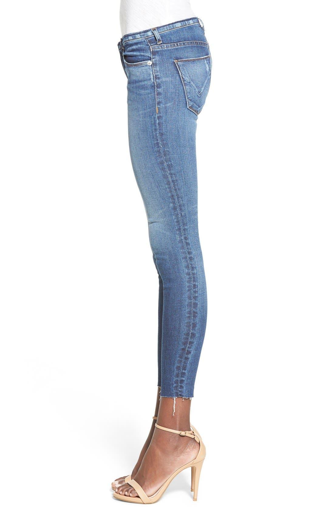 Alternate Image 3  - Hudson Jeans 'Krista' Raw Hem Ankle Super Skinny Jeans (Point Break)