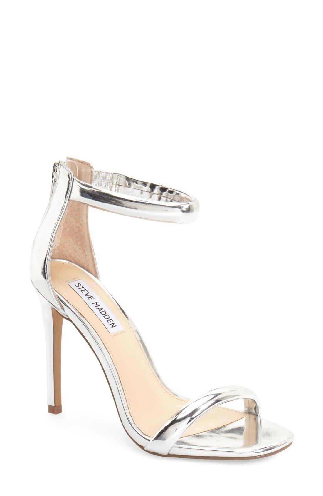 Alternate Image 1 Selected - Steve Madden 'Fancier' Ankle Strap Sandal (Women)