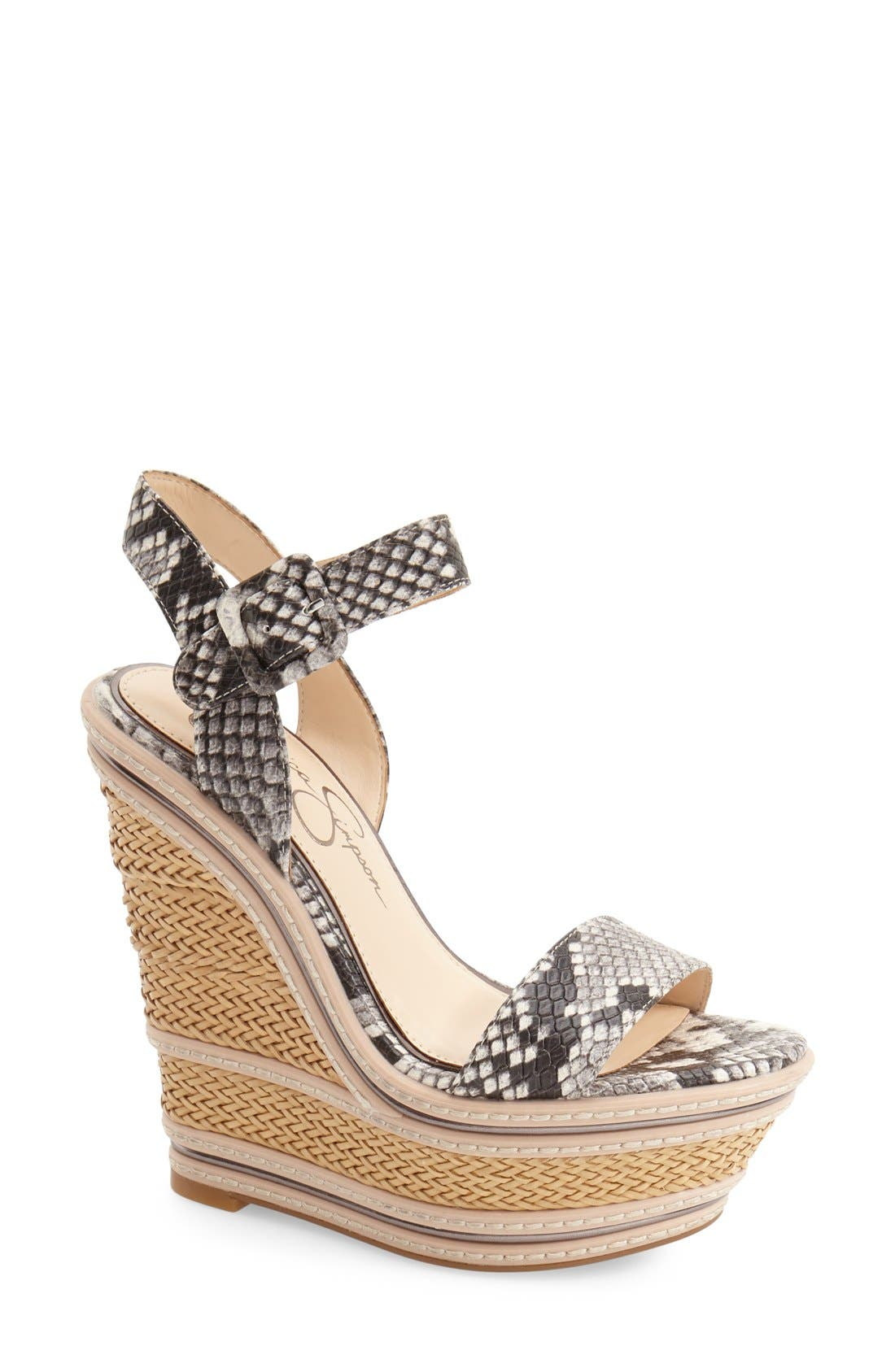 Alternate Image 1 Selected - Jessica Simpson 'Ayala' Wedge Sandal (Women)