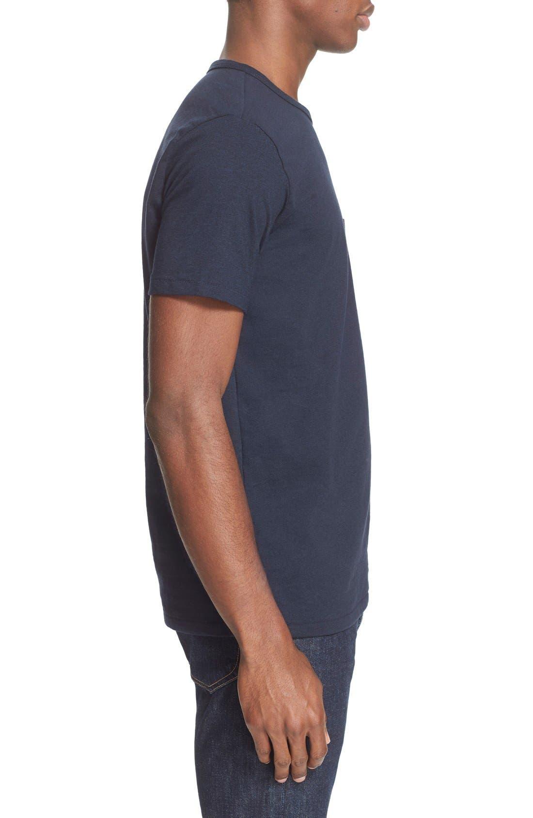 Pocket T-Shirt,                             Alternate thumbnail 3, color,                             Navy
