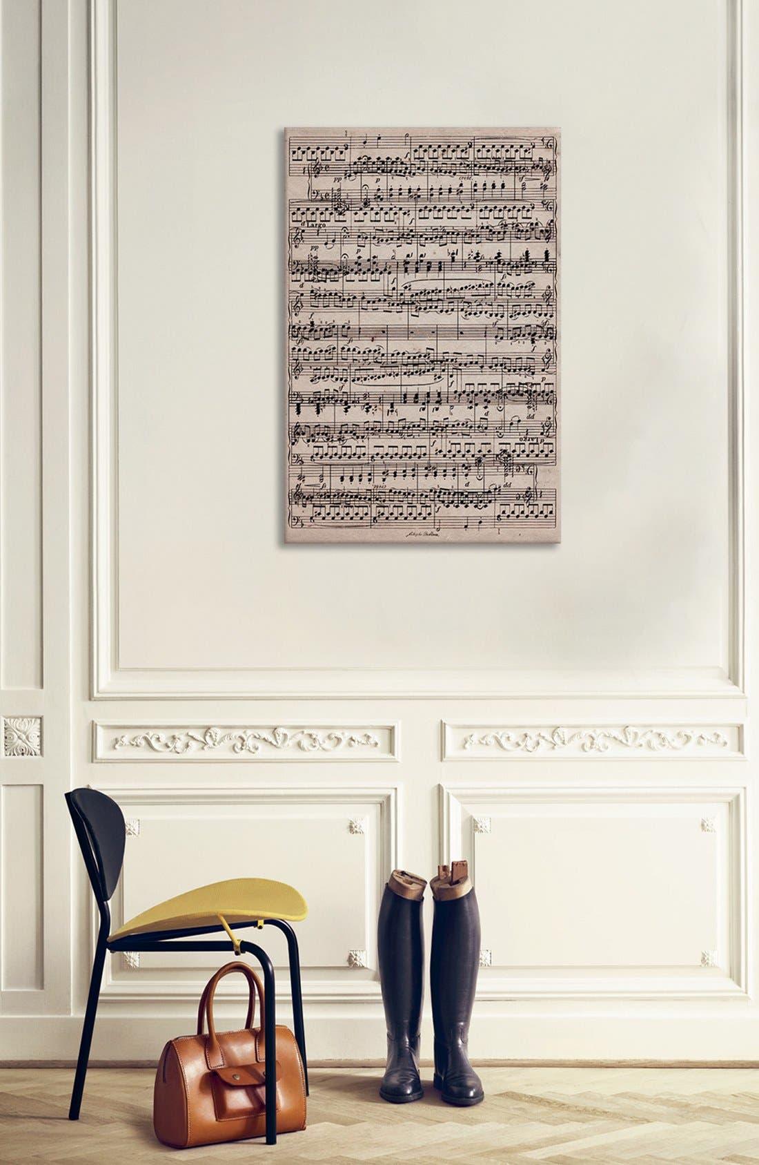 'Sheet Music' Giclée Print Canvas Art,                             Alternate thumbnail 2, color,                             Beige