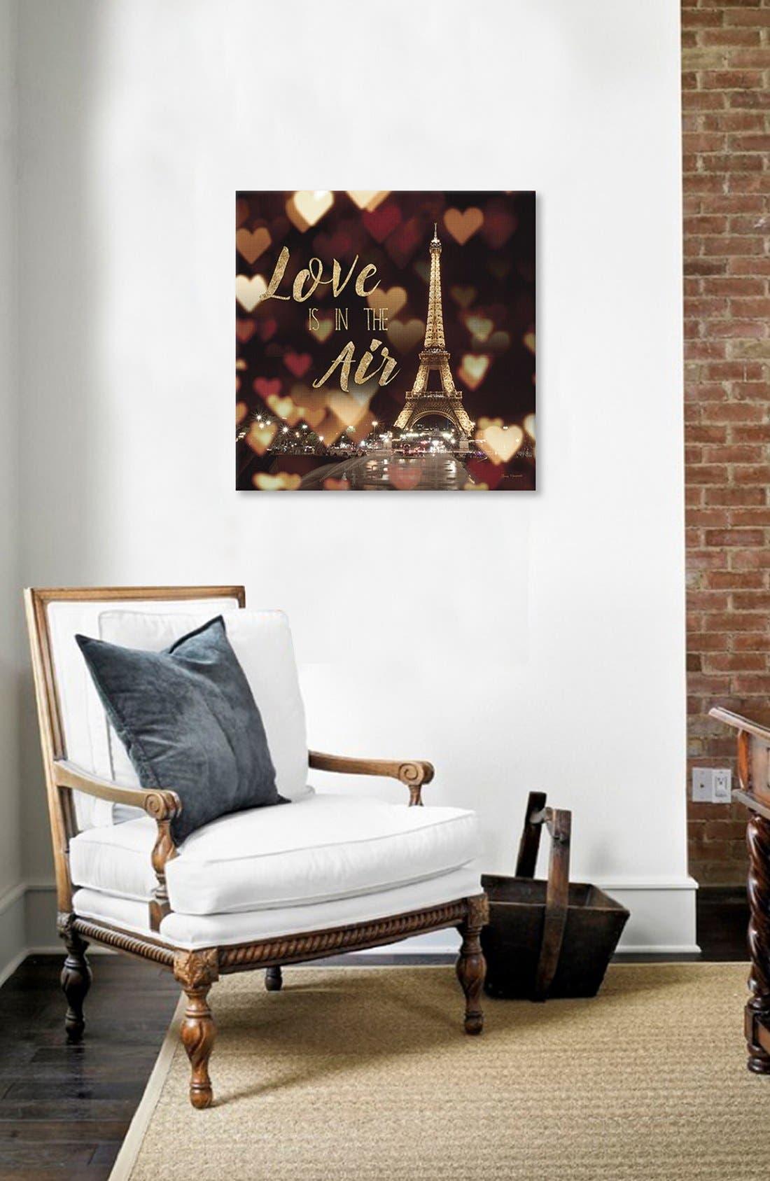 'Love is in the Air' Giclée Print Canvas Art,                             Alternate thumbnail 2, color,                             Black