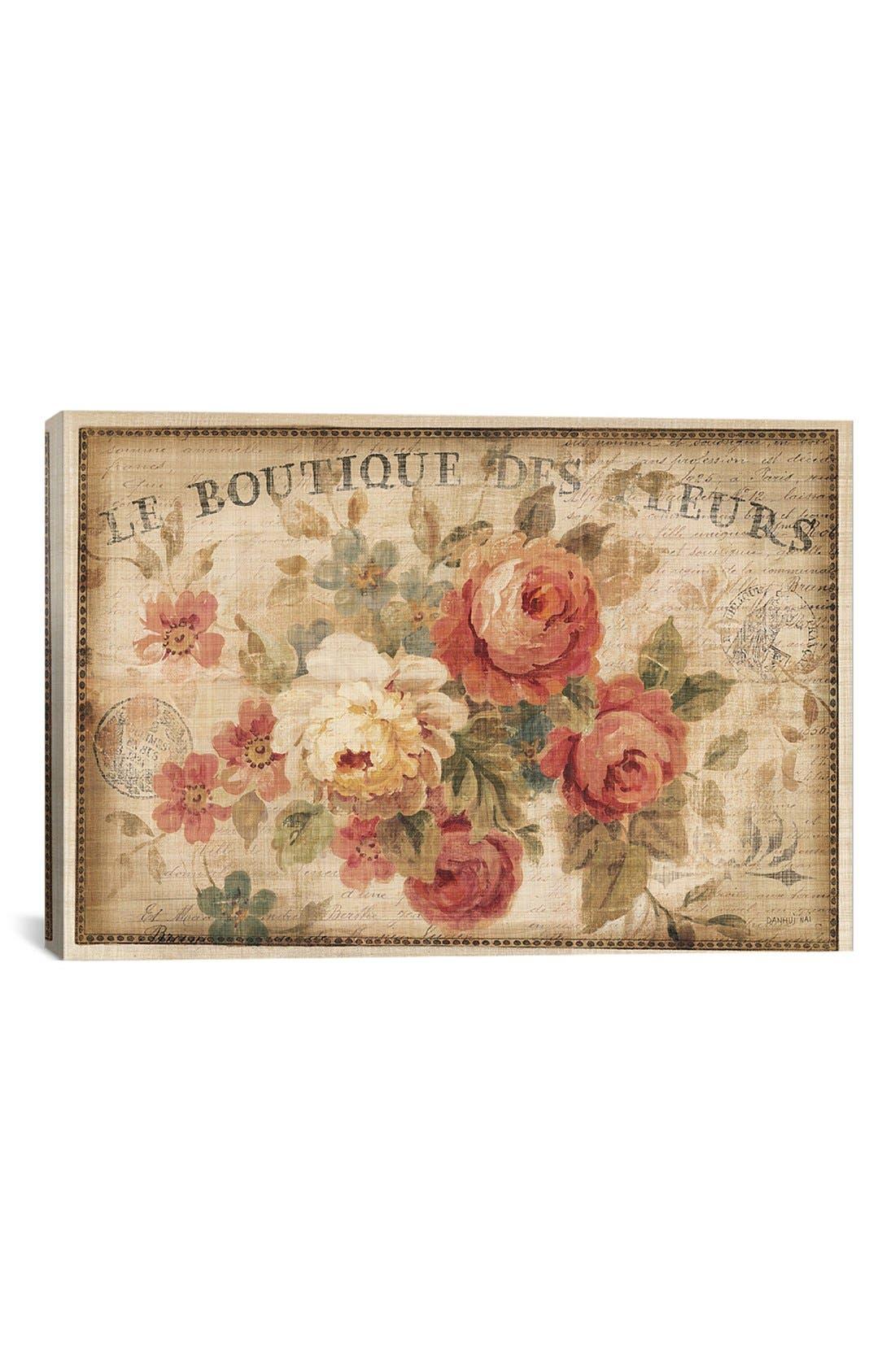 Main Image - iCanvas 'Parisian Flowers' Giclée Print Canvas Art