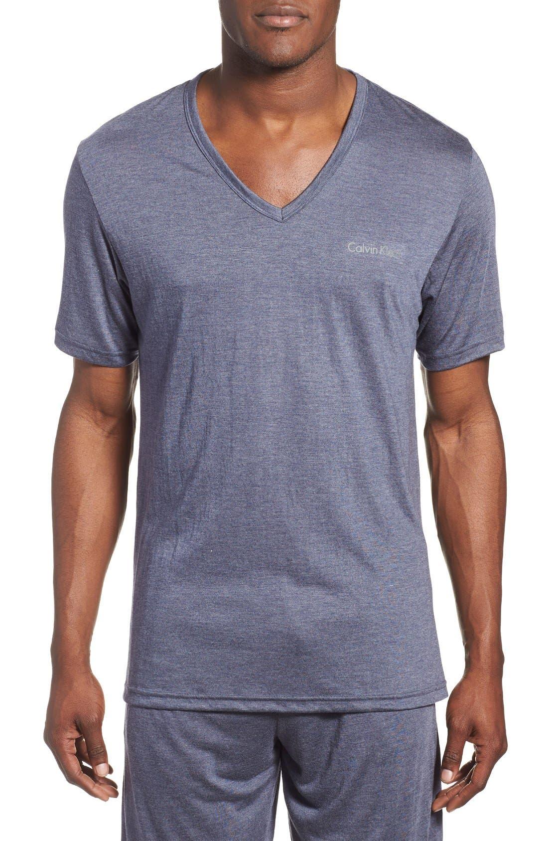 Main Image - Calvin Klein 'Liquid Lounge' V-Neck T-Shirt