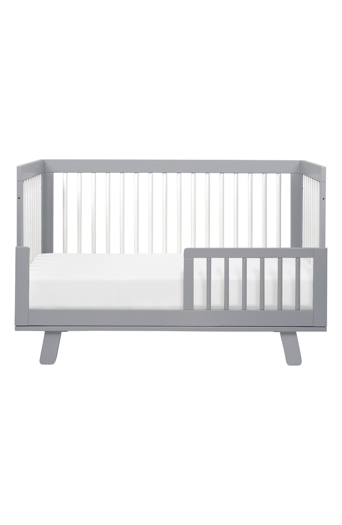 'Hudson' 3-in-1 Convertible Crib,                             Alternate thumbnail 2, color,                             Grey/ White