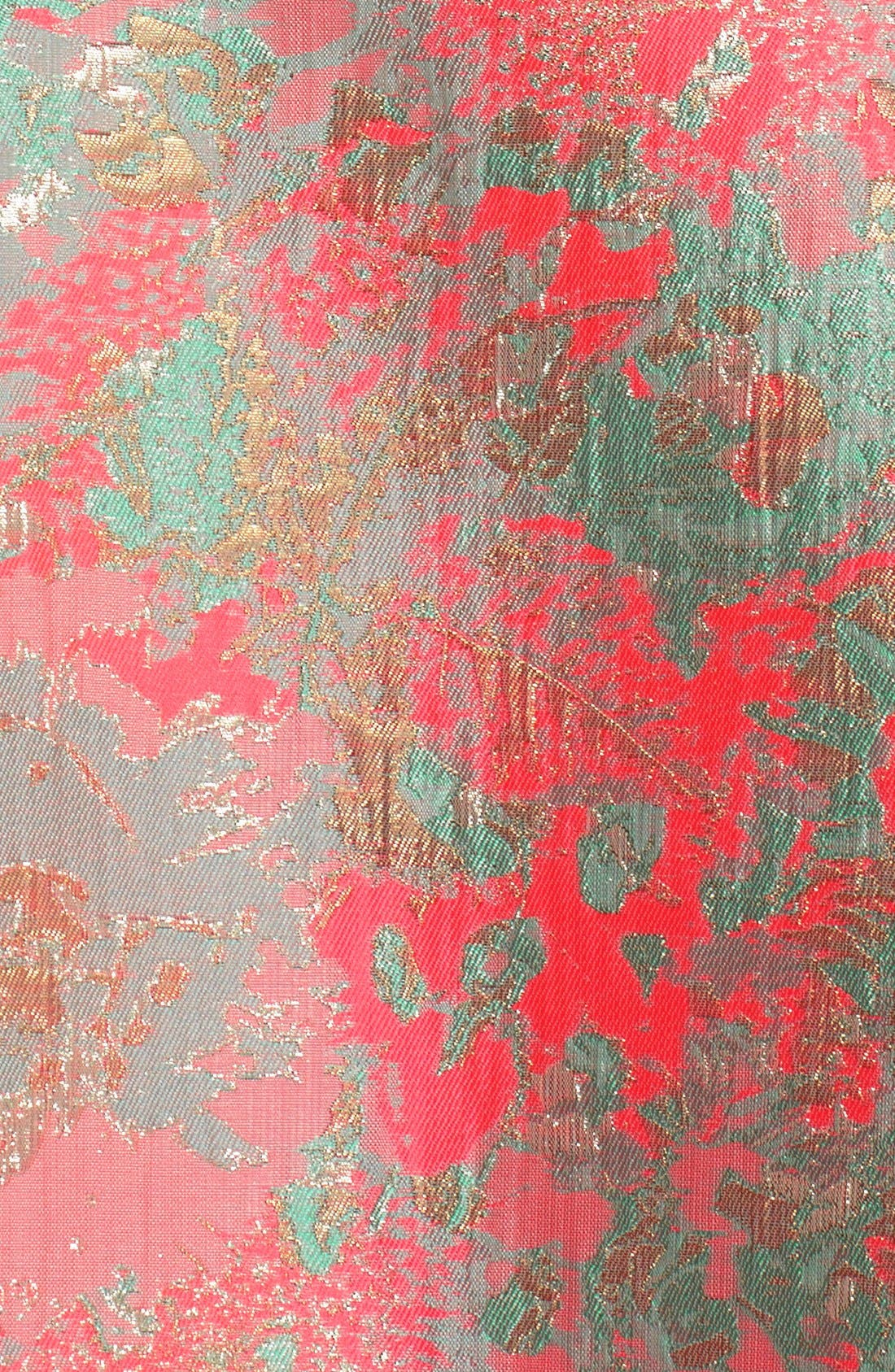 Alternate Image 6  - Adrianna Papell Metallic Jacquard Fit & Flare Dress