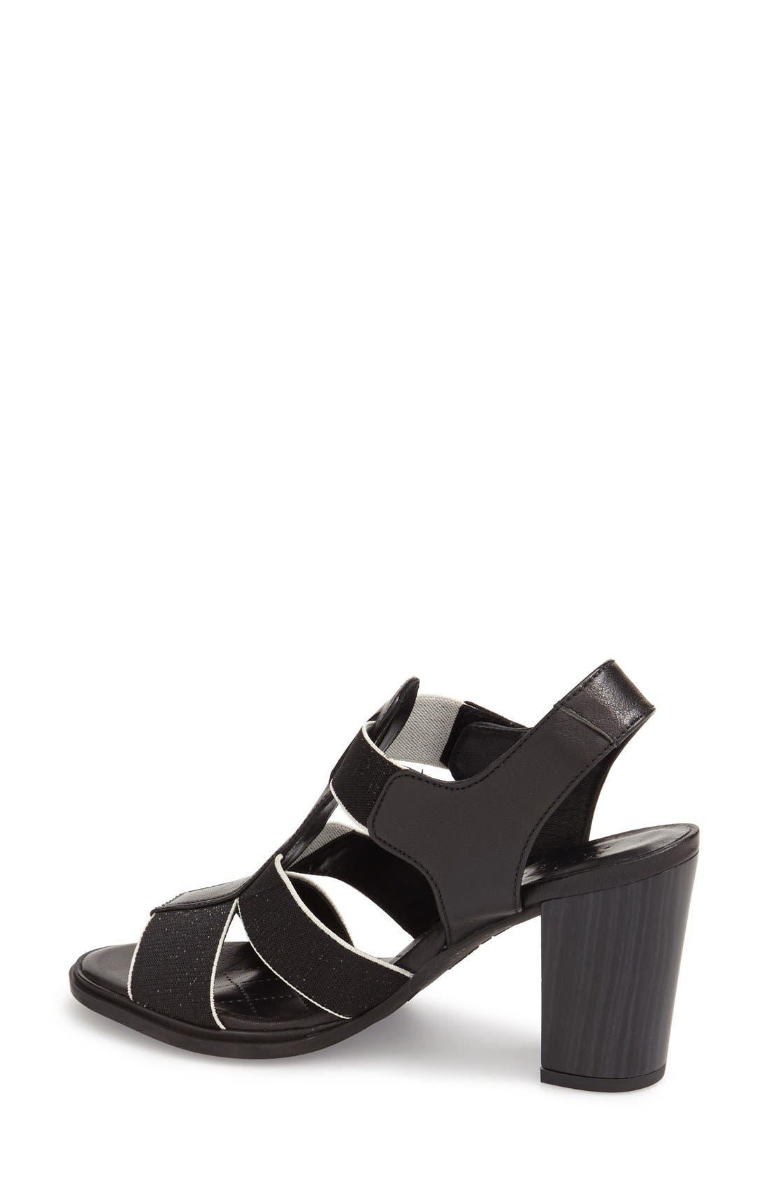 'Matchless' Sandal,                             Alternate thumbnail 2, color,                             Black Leather