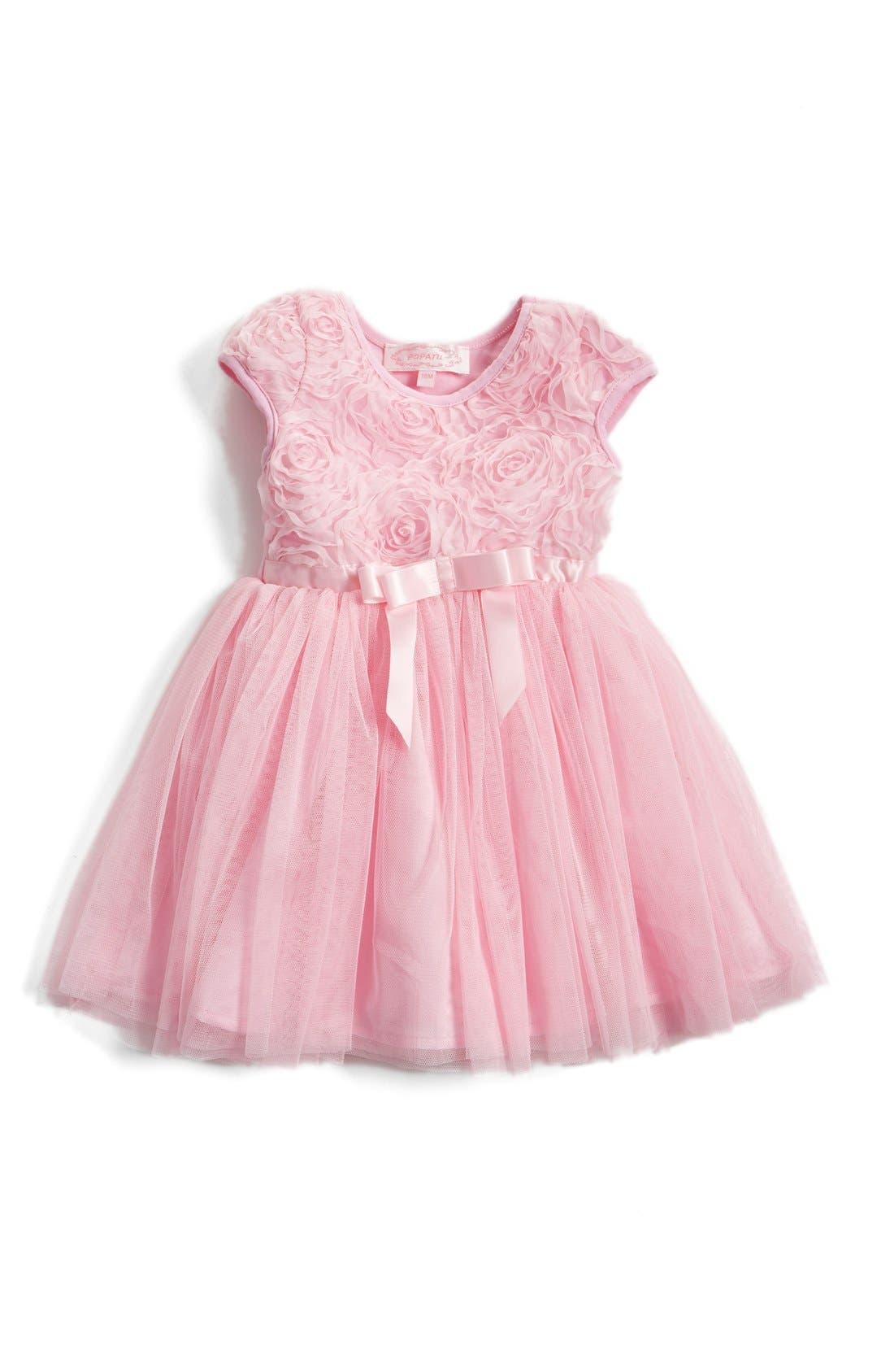 Popatu Short Sleeve Tulle Dress (Baby Girls)