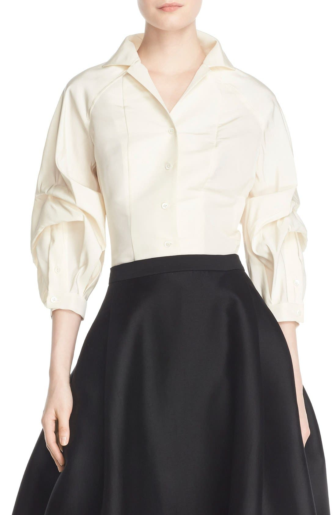 Alternate Image 3  - Carolina Herrera Full Sleeve Silk Blouse