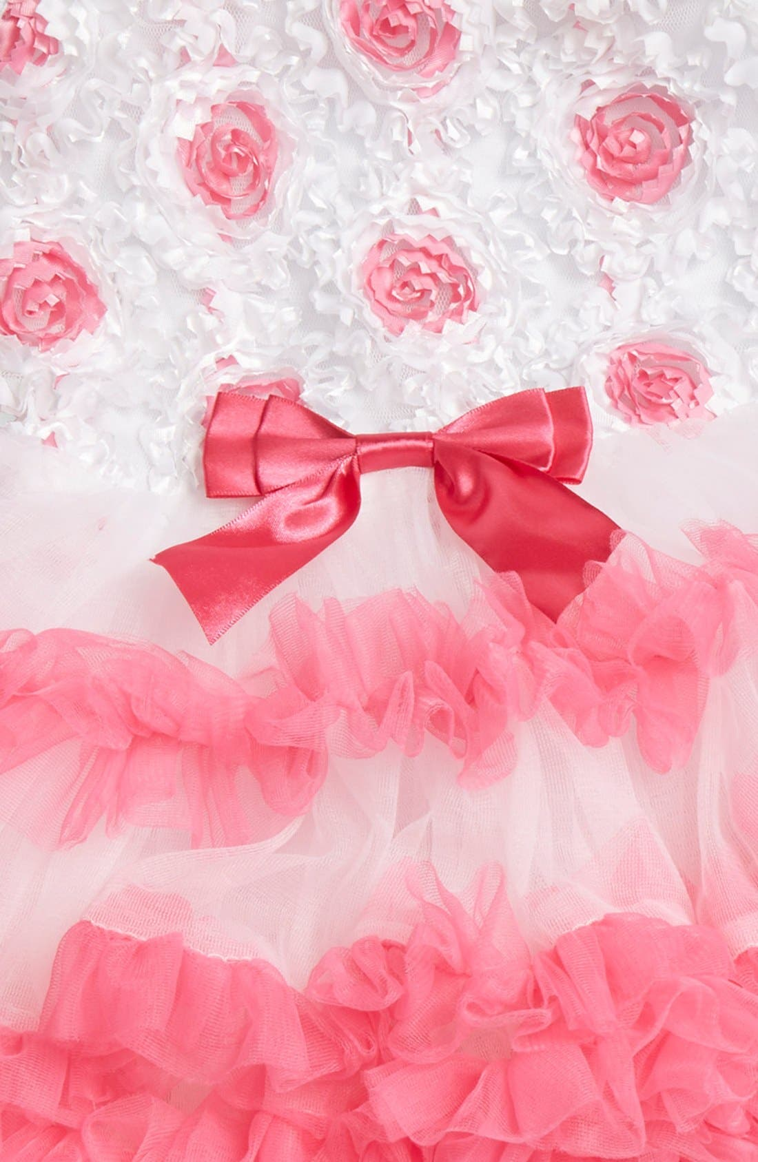 Alternate Image 3  - Popatu Ribbon Rosette Flower Pettidress (Baby Girls)