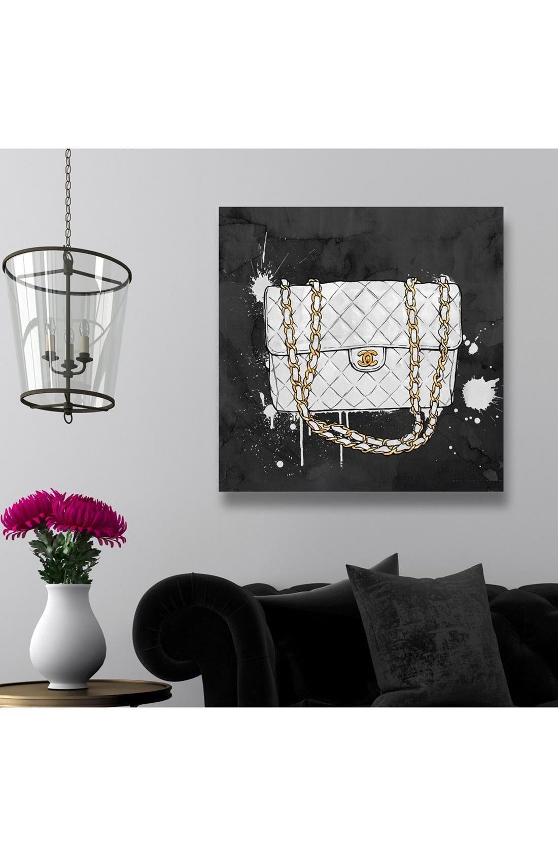 'Everything but White' Canvas Wall Art,                             Alternate thumbnail 2, color,                             Black