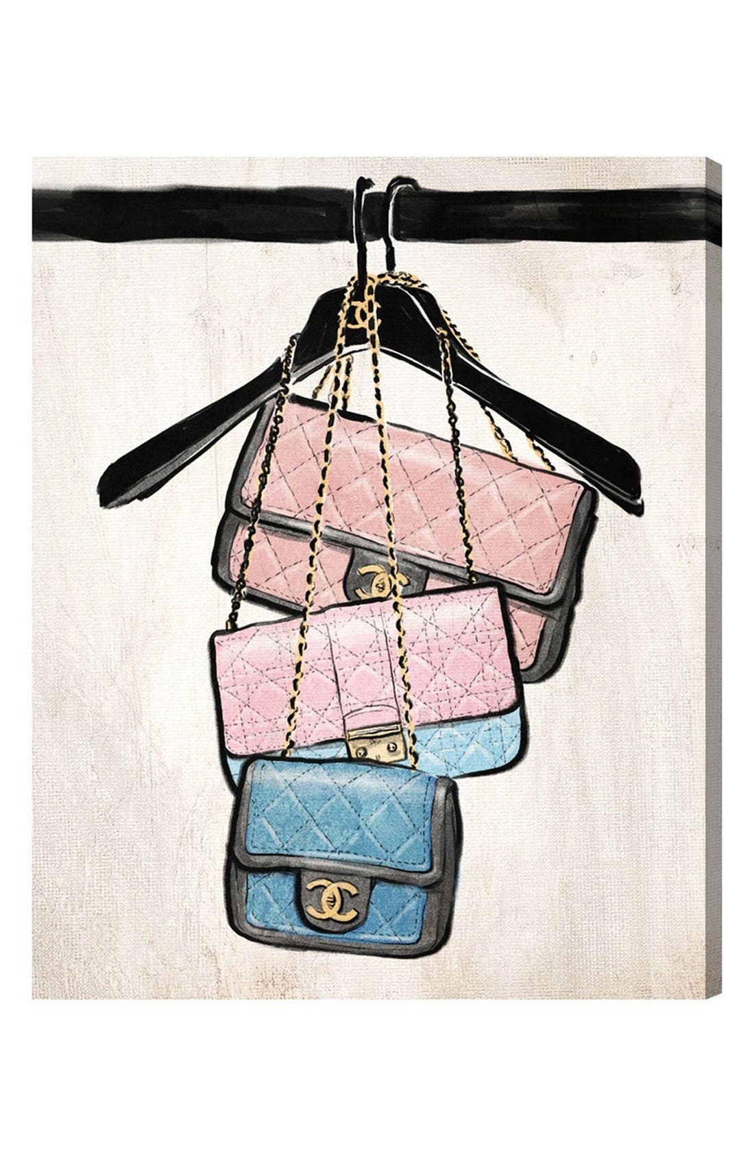 Alternate Image 1 Selected - Oliver Gal 'Closet Purses' Canvas Wall Art