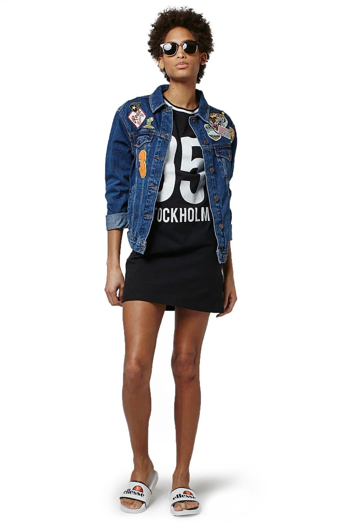Alternate Image 2  - Topshop 'Stockholm' T-Shirt Dress