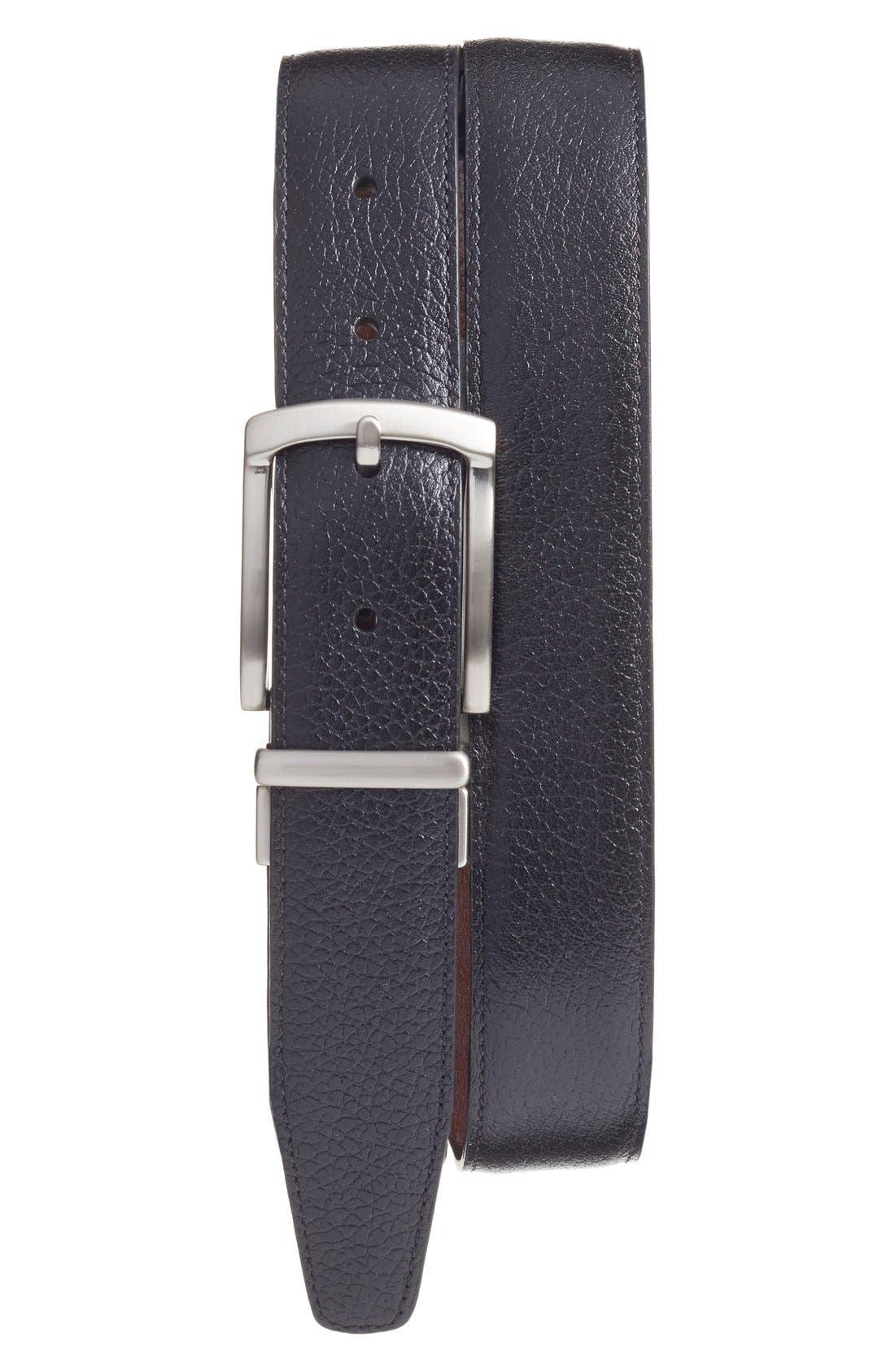 Reversible Leather Belt,                         Main,                         color, Black/ Brown