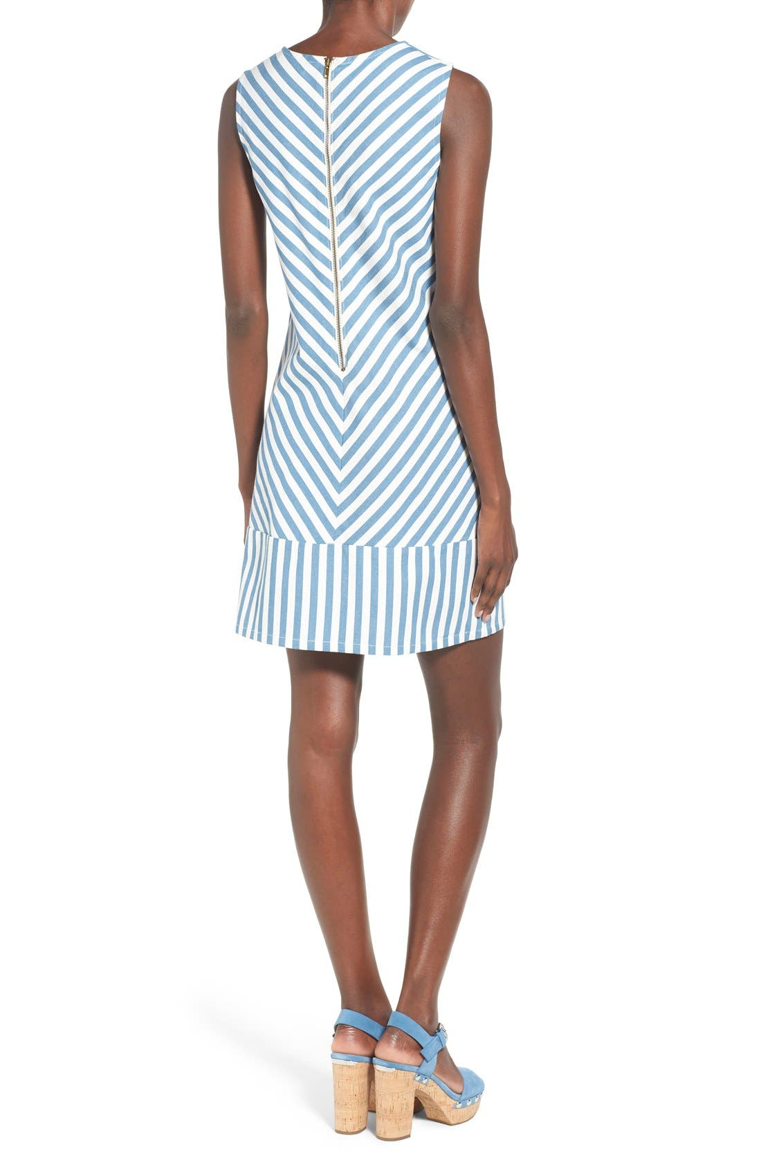Alternate Image 2  - Rachel Antonoff 'Sam' Stripe Cotton Shift Dress