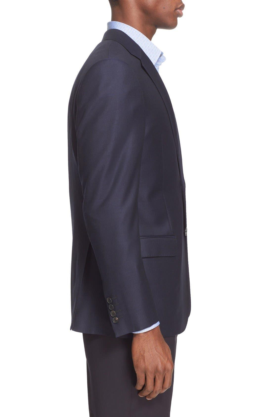 Alternate Image 3  - Armani Collezioni G-Line Trim Fit Wool Blazer