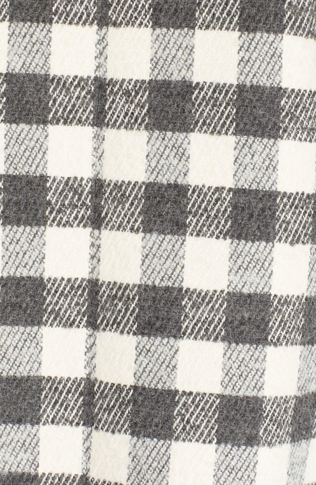 Alternate Image 6  - See by Chloé Faux Shearling Trim Buffalo Plaid Coat