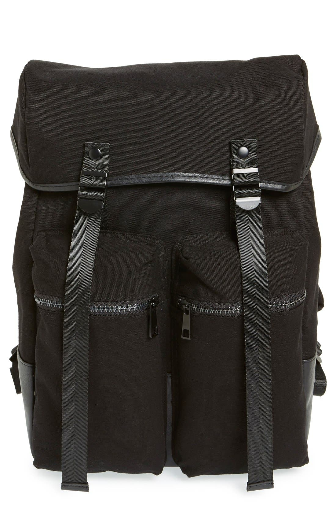 Alternate Image 1 Selected - Topman Canvas Backpack