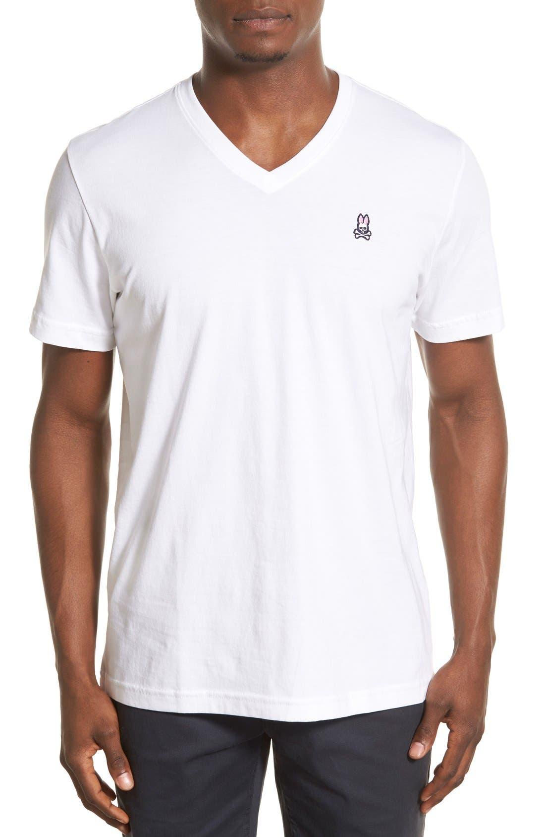 Main Image - Psycho Bunny Classic Pima Cotton V-Neck T-Shirt