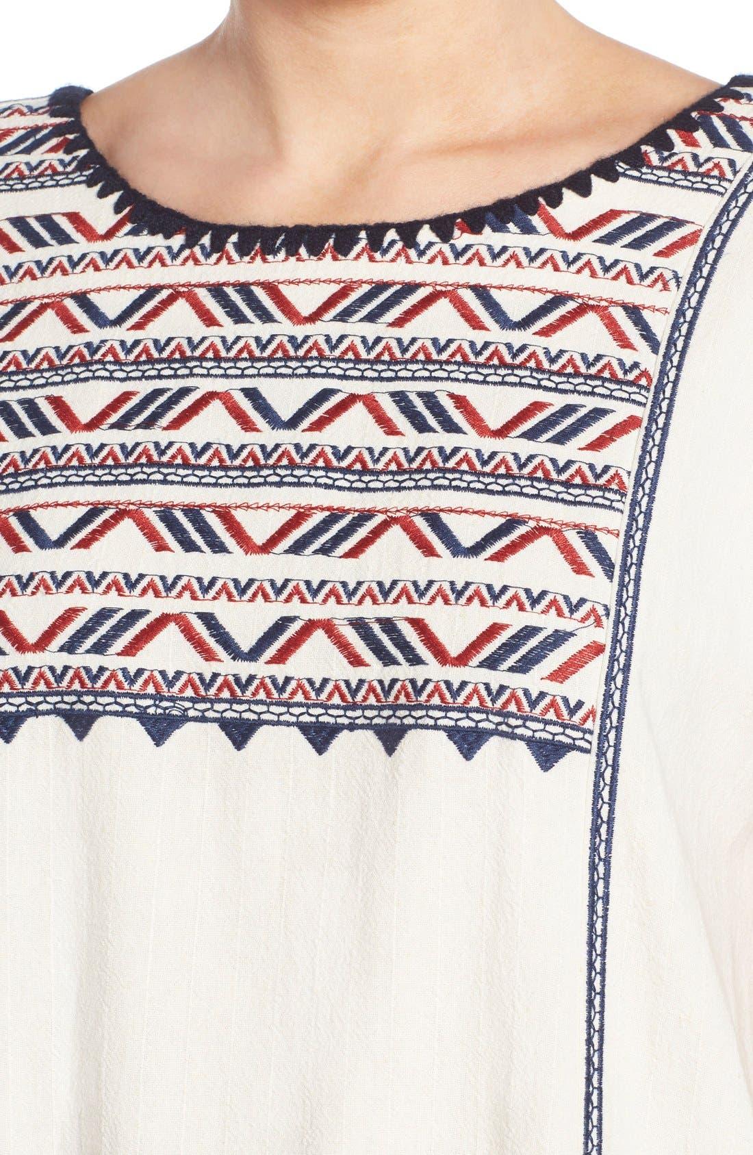 Alternate Image 4  - ASTR Embroidered Shift Dress