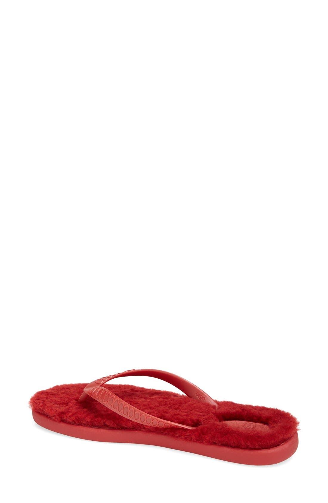 Alternate Image 2  - UGG® 'Fluffie' Flip Flop (Women)