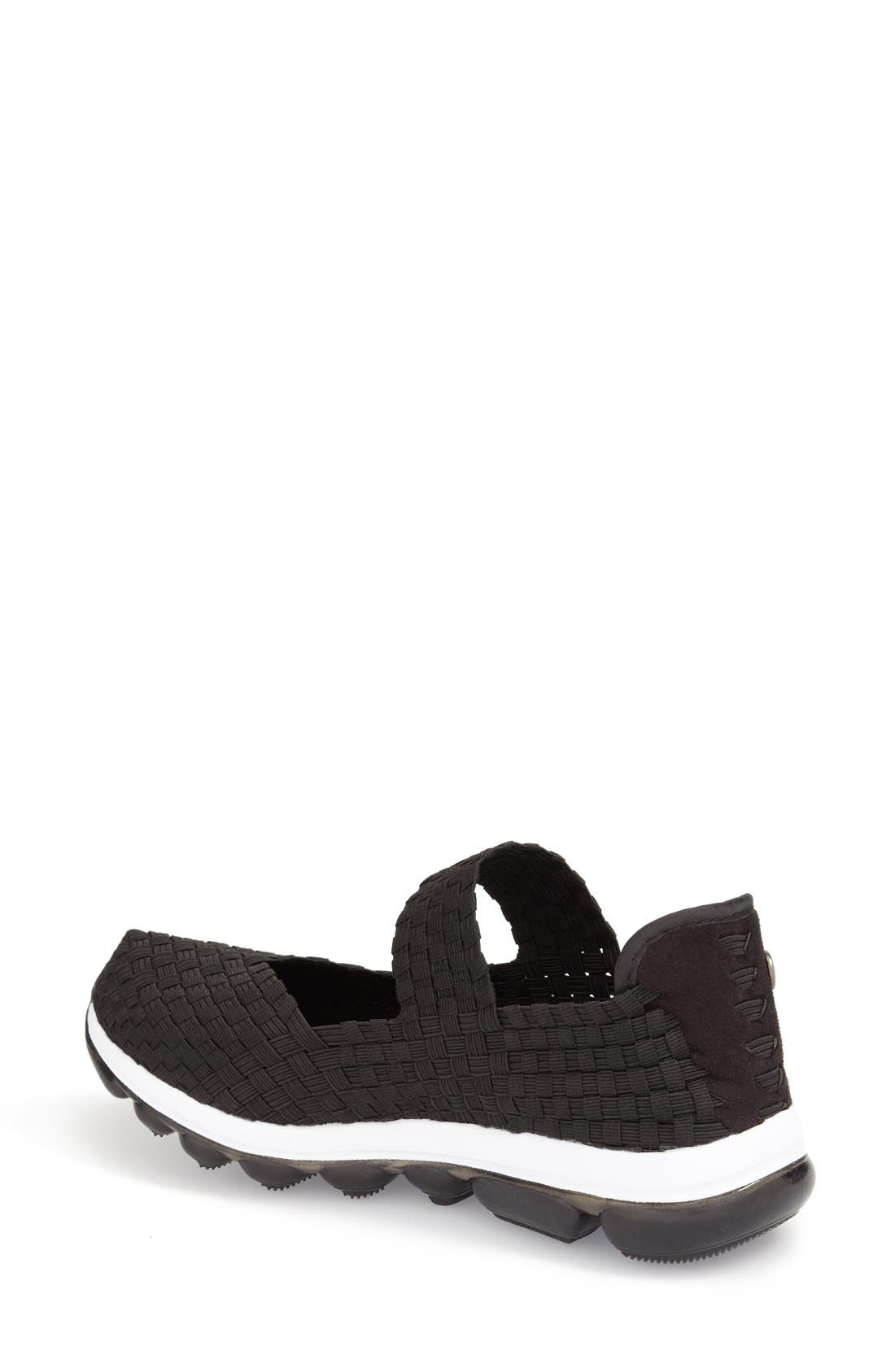 'Gummies Charm' Stretch Woven Slip-On Sneaker,                             Alternate thumbnail 2, color,                             Black Fabric