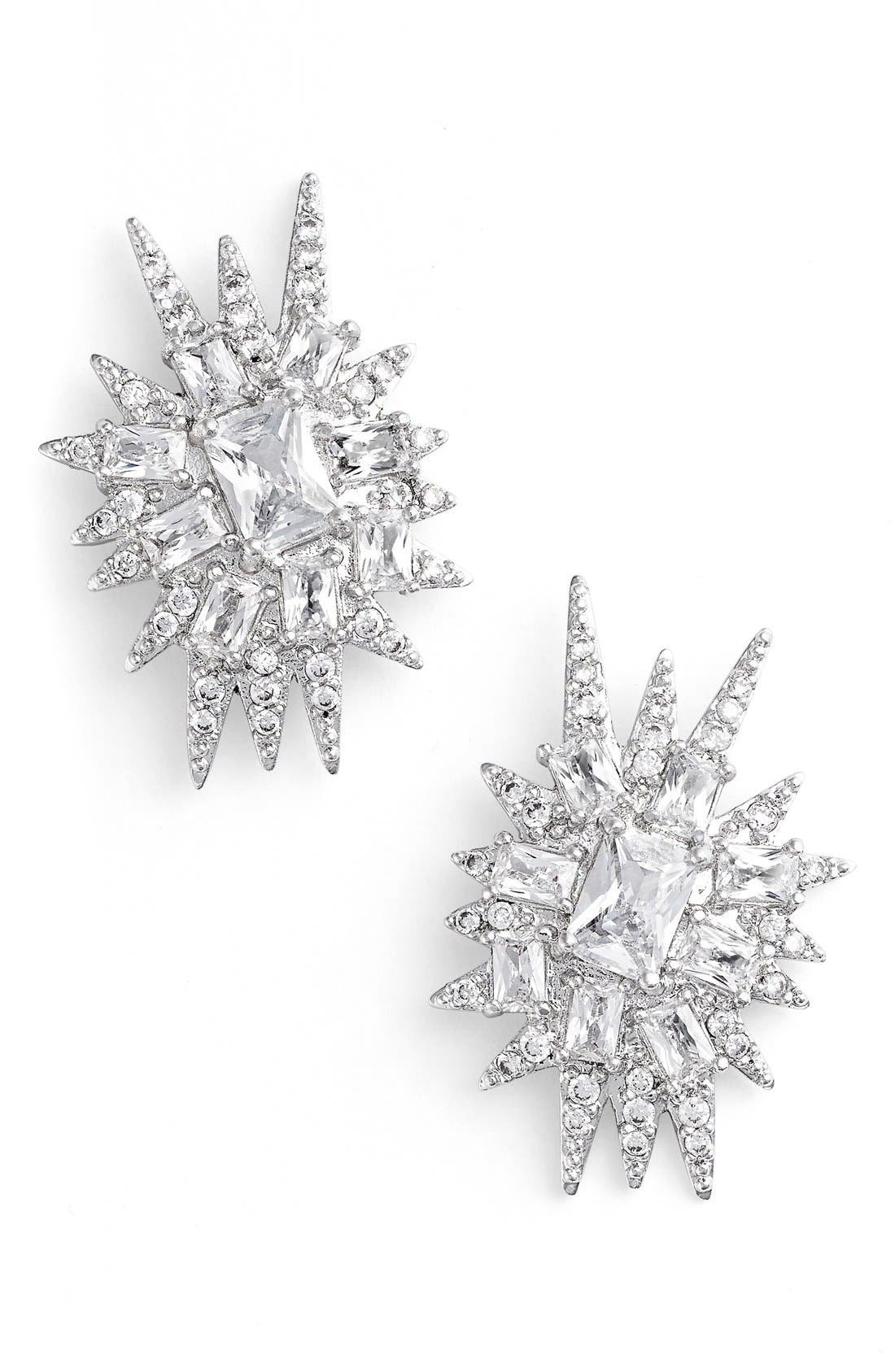 Alternate Image 1 Selected - CZ by Kenneth Jay Lane 'Explosion' Cubic Zirconia Stud Earrings