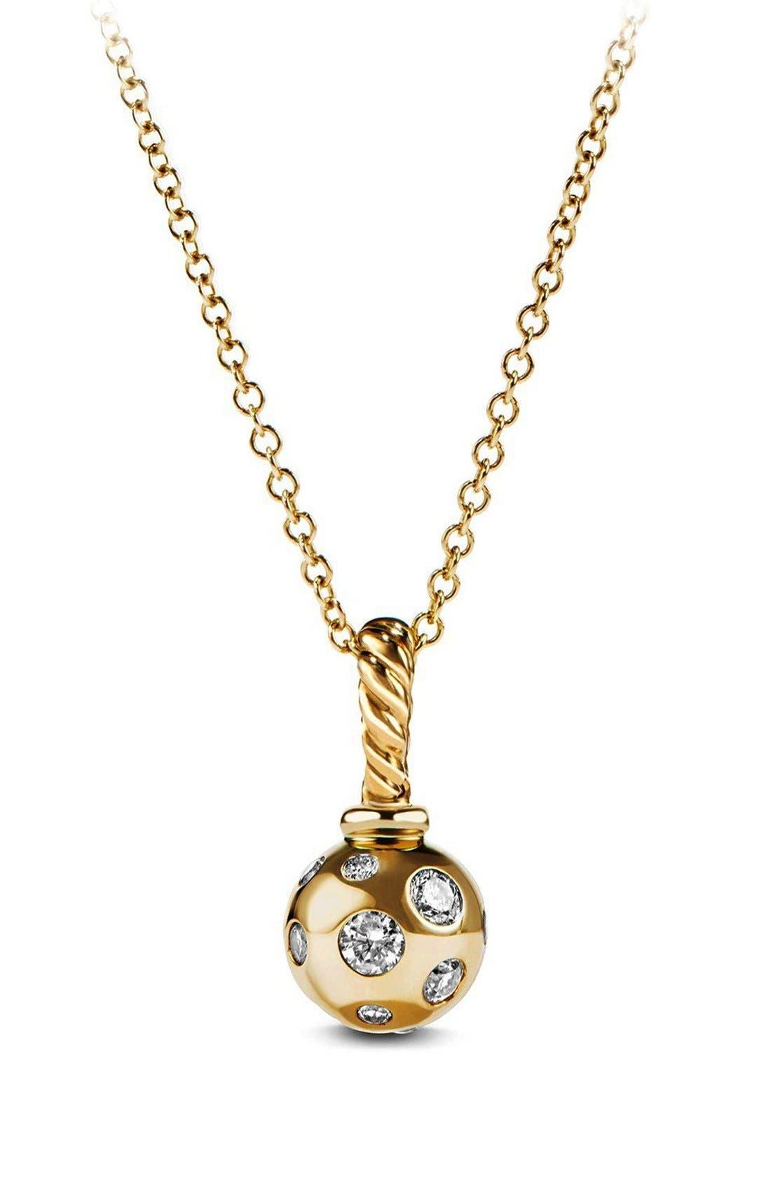 DAVID YURMAN Pendant with Diamonds in 18K Gold