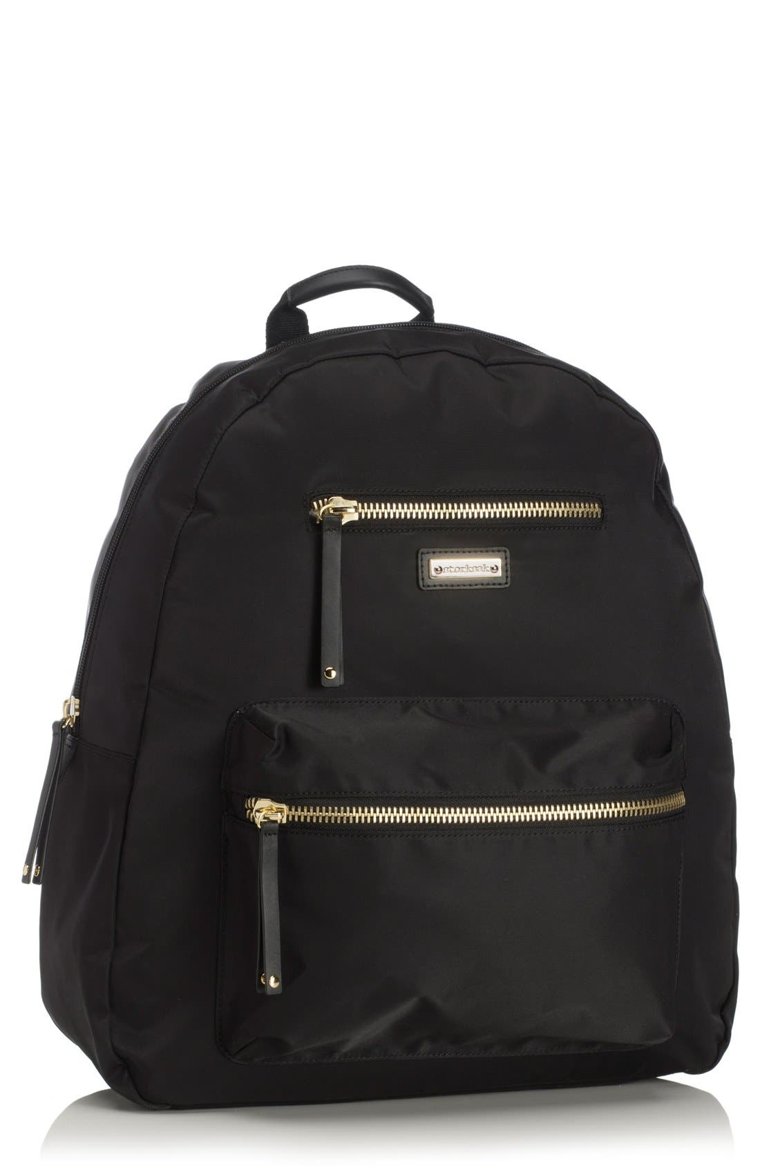'Charlie' Backpack Diaper Bag,                         Main,                         color, Black