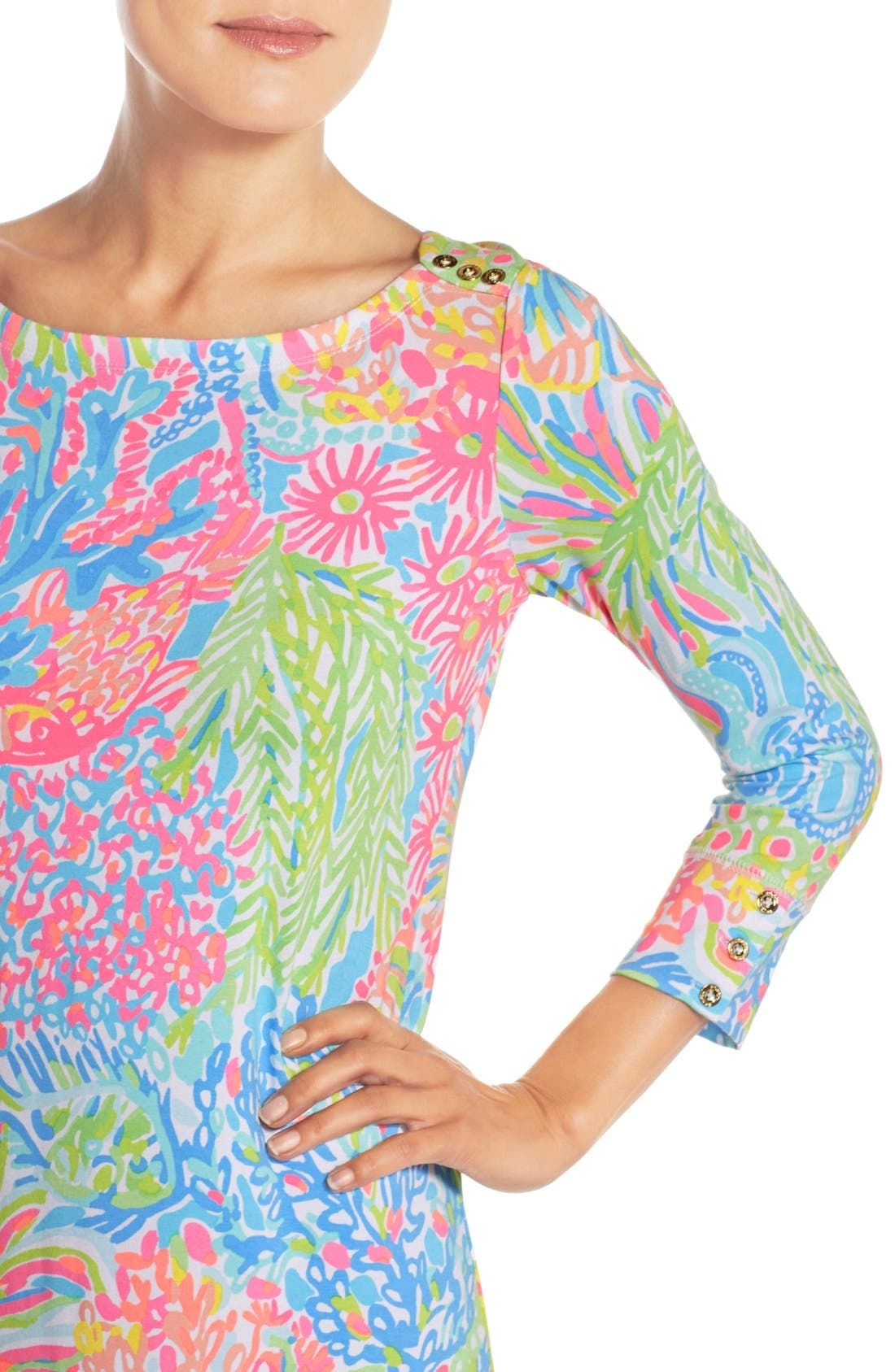 Alternate Image 5  - Lilly Pulitzer® 'Sophie' Print Jersey Shift Dress (UPF 50)