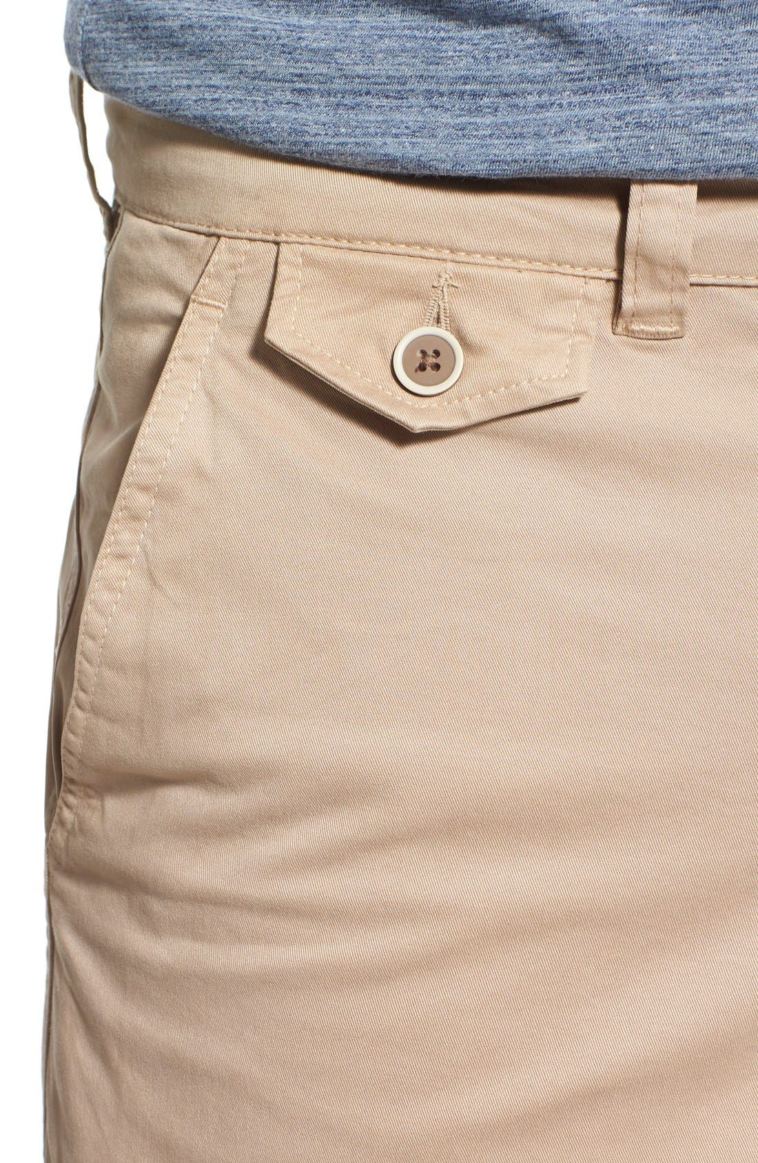 'Sunny' Stretch Twill Chino Shorts,                             Alternate thumbnail 5, color,                             Khaki