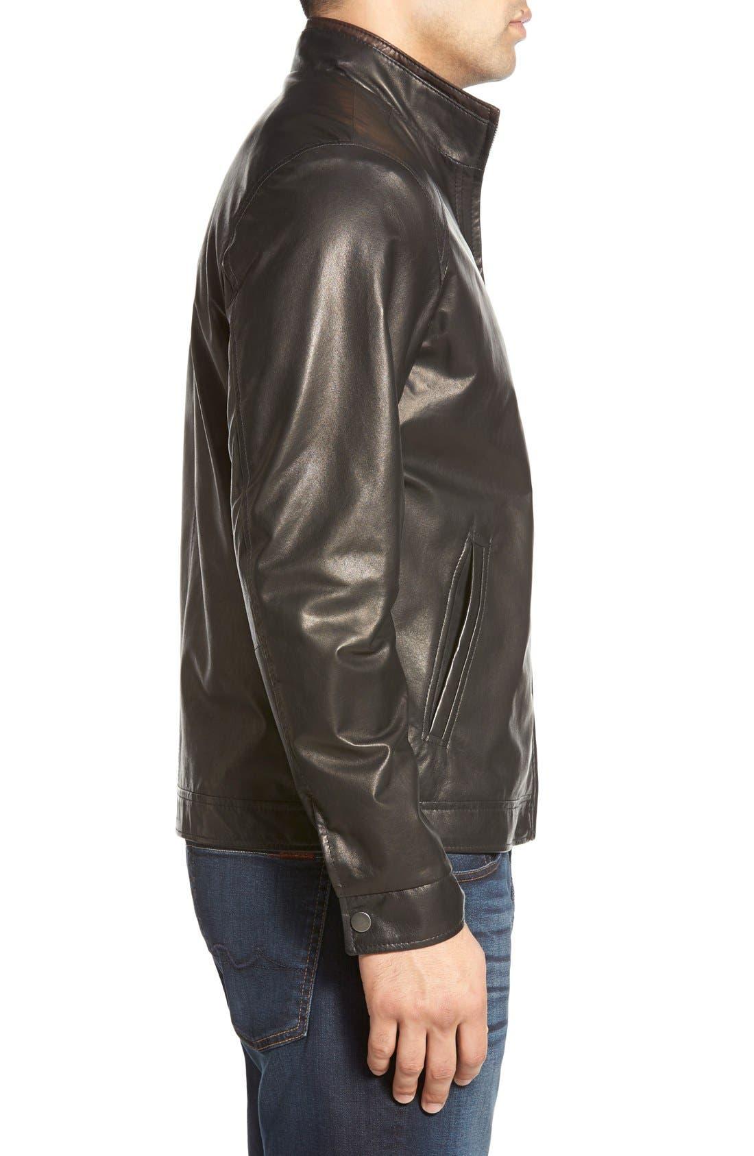 Alternate Image 3  - Remy Leather Lambskin Leather Jacket