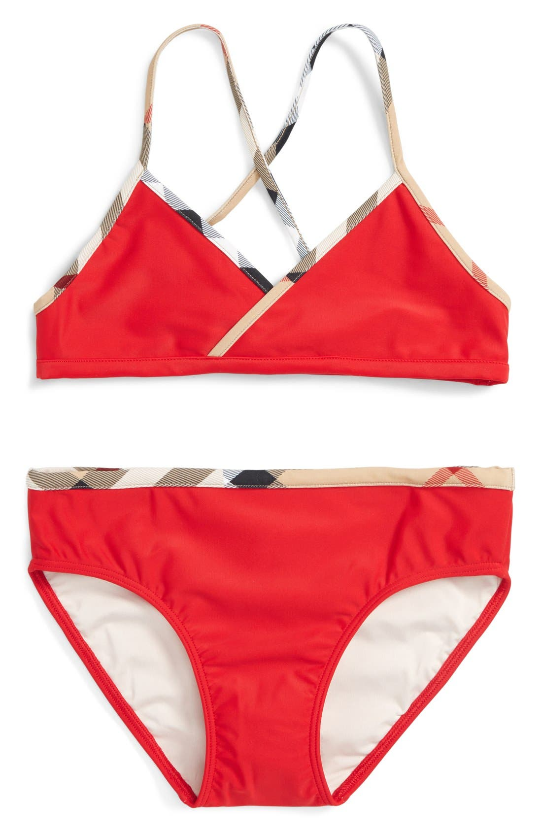 'Crosby' Two-Piece Swimsuit,                             Main thumbnail 1, color,                             Poppy Red