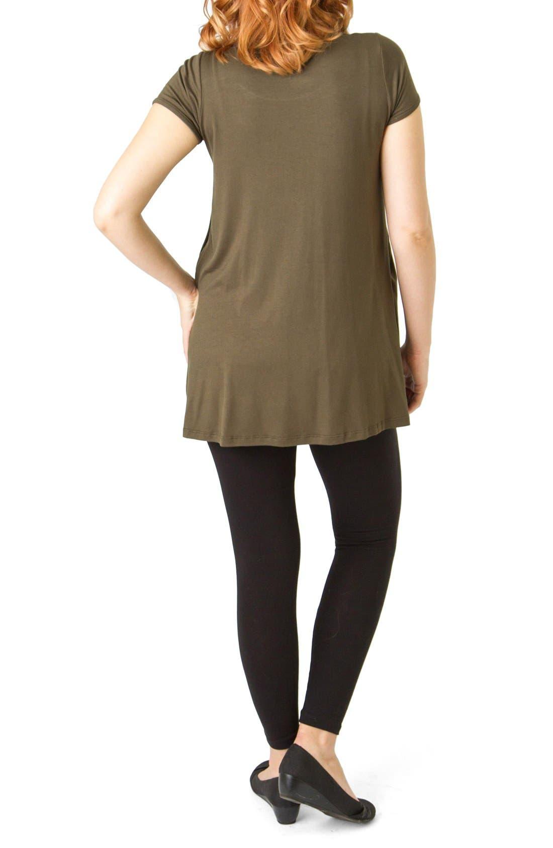 Alternate Image 2  - Savi Mom 'The Short Sleeve' Pleated Maternity/Nursing Top