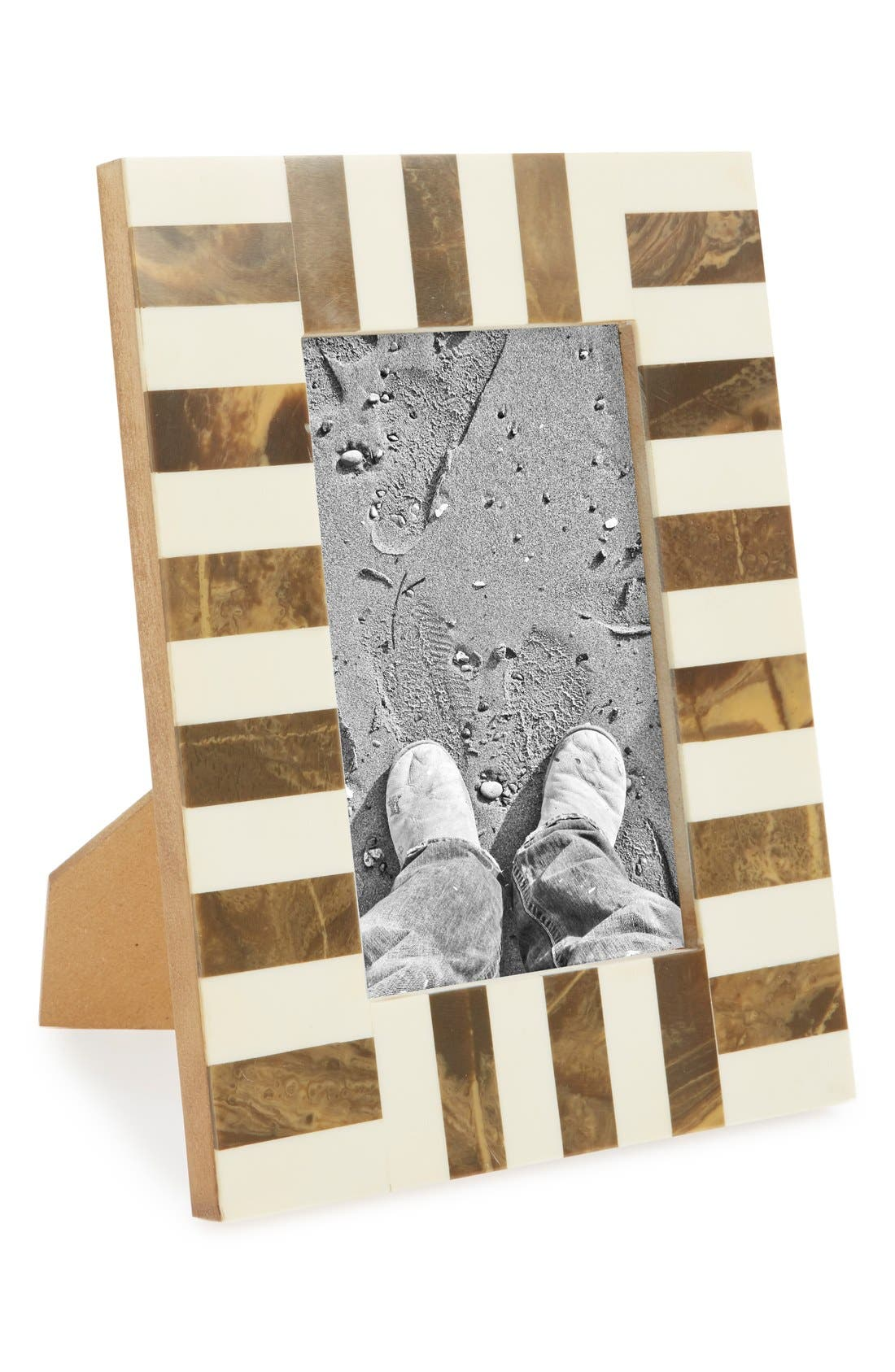 Main Image - MG Décor Horn & Wooden Picture Frame (4x6) (Nordstrom Exclusive)