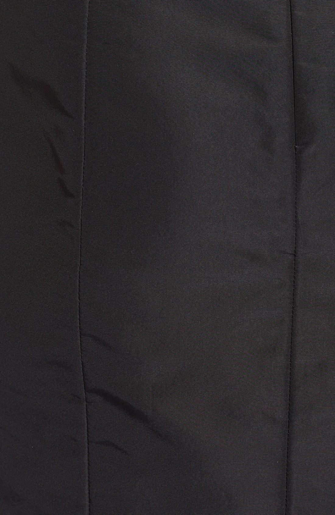 Silk Pencil Skirt,                             Alternate thumbnail 3, color,                             Black
