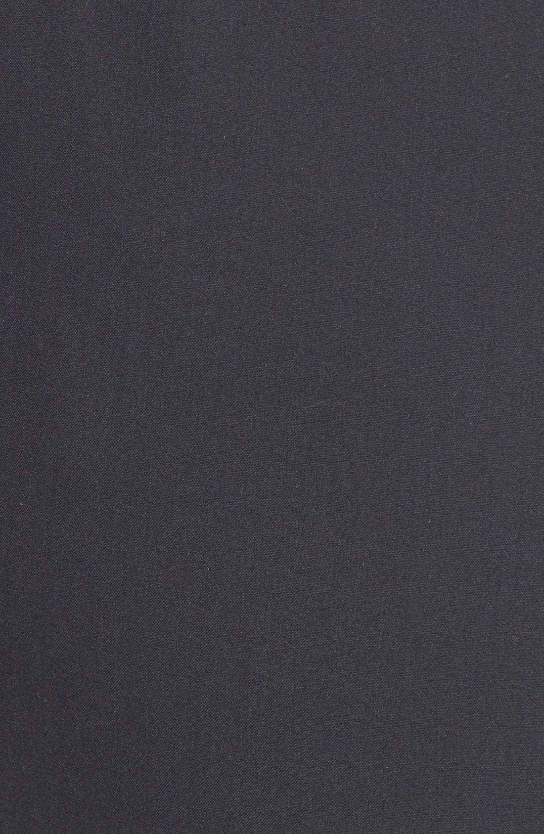 'Ela' Stretch Curvy Fit Wide Leg Suit Pants,                             Alternate thumbnail 6, color,                             Navy Midnight