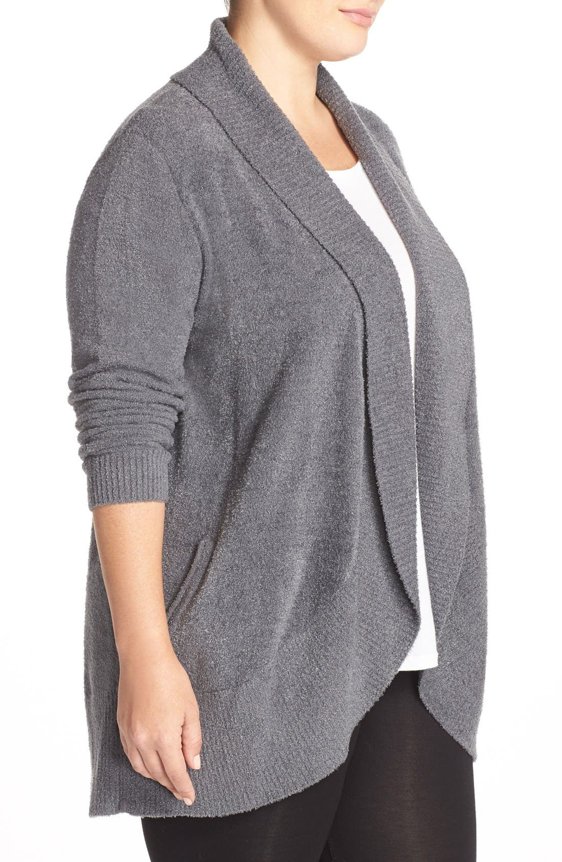 Alternate Image 3  - Barefoot Dreams® CozyChic Lite® Circle Cardigan (Plus Size)