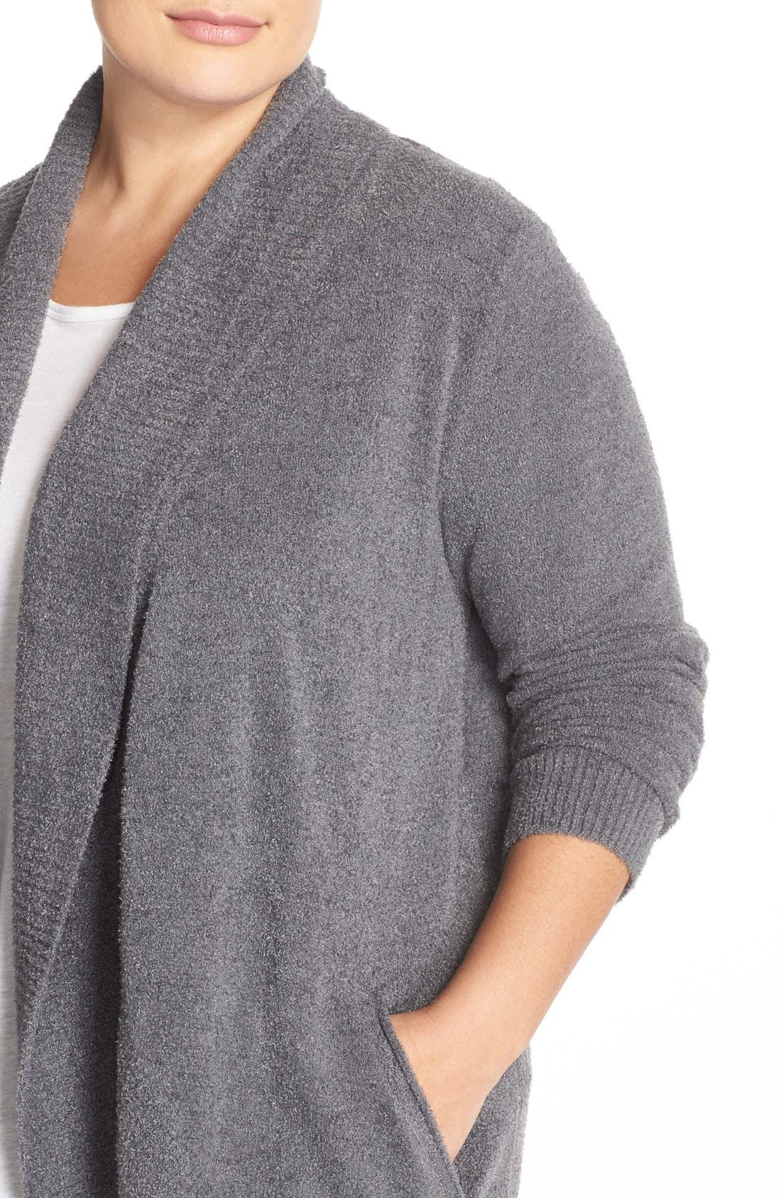 Alternate Image 4  - Barefoot Dreams® CozyChic Lite® Circle Cardigan (Plus Size)