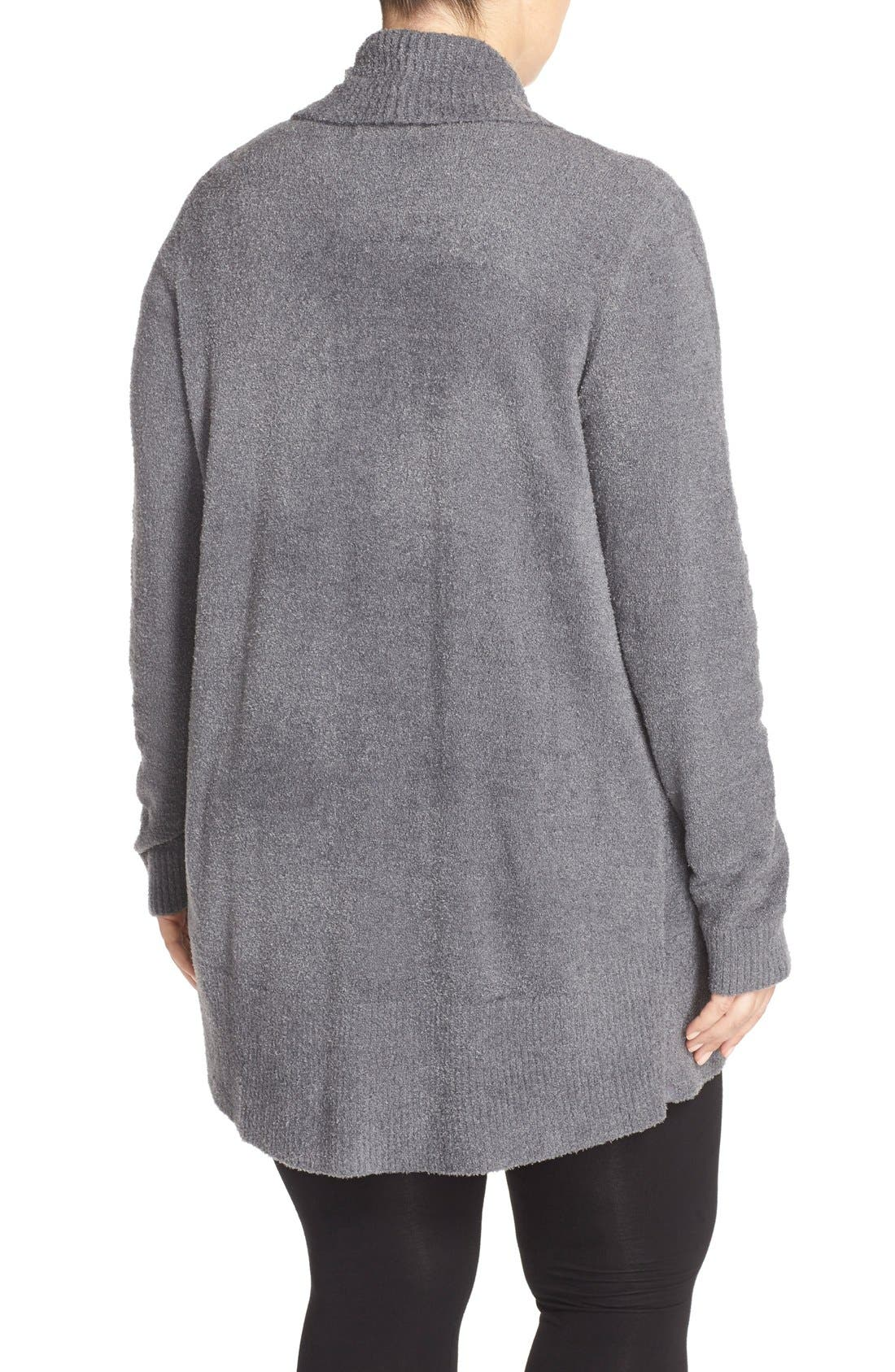 Alternate Image 2  - Barefoot Dreams® CozyChic Lite® Circle Cardigan (Plus Size)